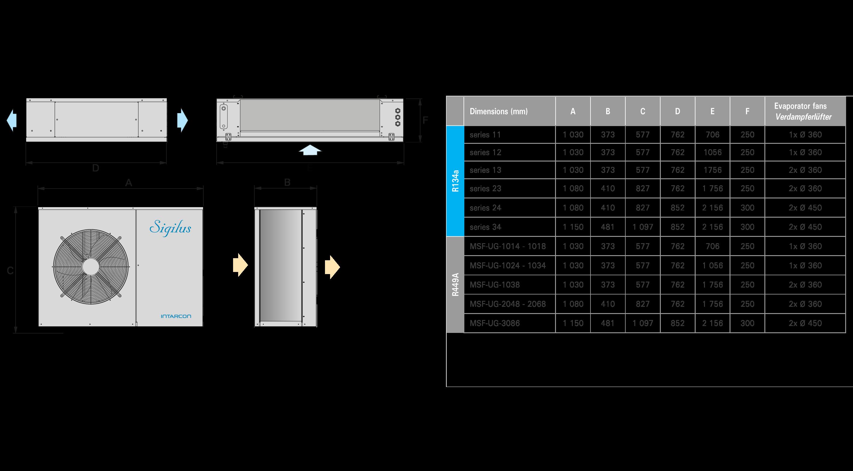 Quasistatics Refrigeration Split Units For Very Low Air
