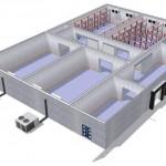 instalación central axial